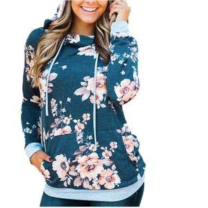 Tops - Long Sleeve Hoodie Pullover Sweatshirts